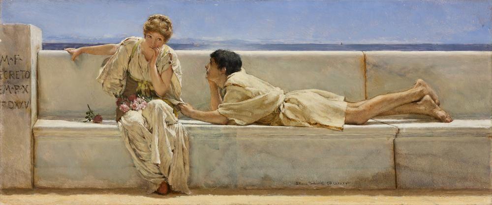 Sir Lawrence Alma-Tadema (1836-1912)  1877, huile sur bois, 16 x 38 cm Mexico, Collection Pérez Simón