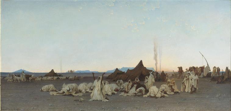 Prière du soir dans le Sahara Guillaumet Gustave Achille (1840-1887) Paris, musée d'Orsay