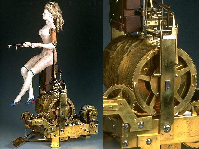 Mécanisme de la joueuse de tympanon - © Musée des arts et métiers.