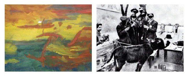 Lolo, l'âne du père Frédé auteur d'un tableau présenté au salon des arts de 1910 © Culturebox