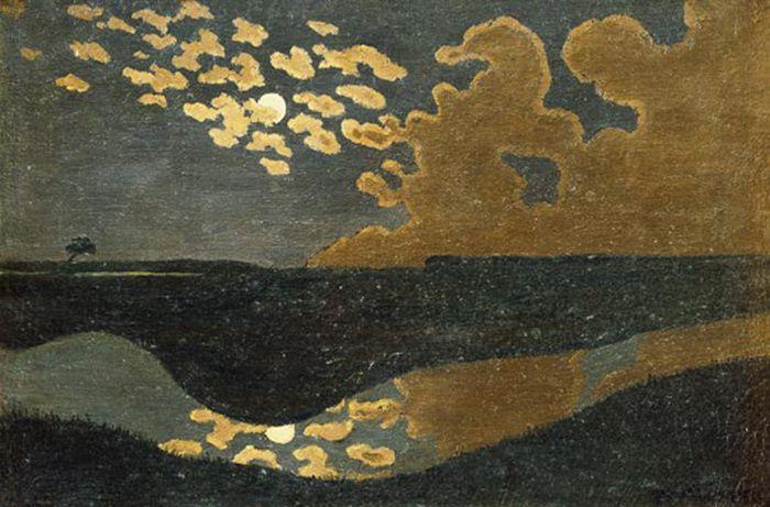 Felix Vallotton, Nuages à Romanel, 1900, Huile sur carton, 35 x 46 cm