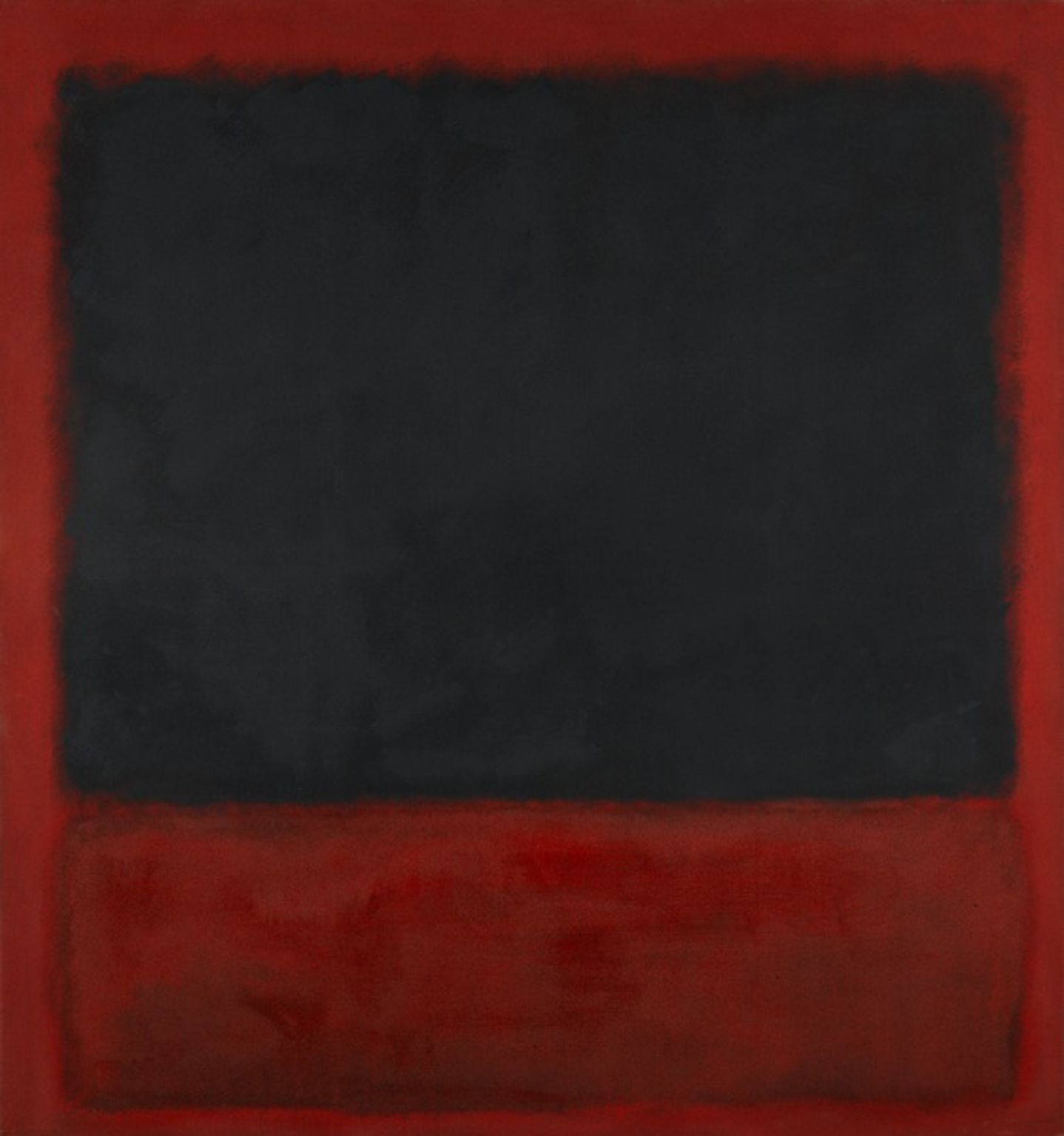 Untitled (Black, Red over Black, on Red), 1964, h/t, 205 x 193 cm, Centre Georges Pompidou.