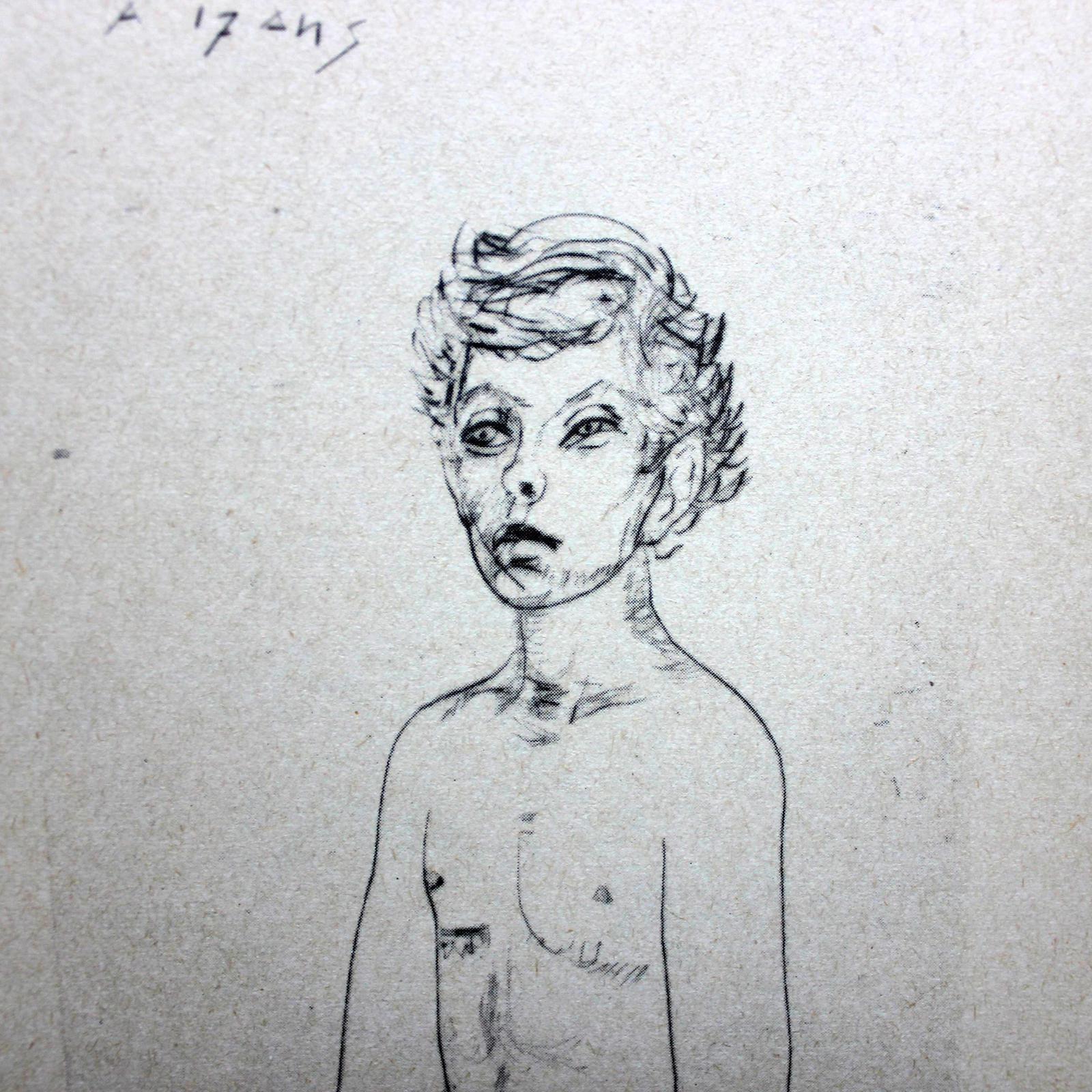 Verlaine, Rimbaud. Eaux fortes de Roger Descombes.
