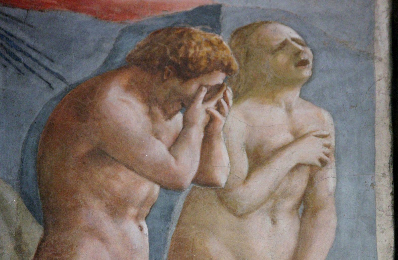 Masaccio. Adam et Eve. Chapelle Brancacci. Florence.