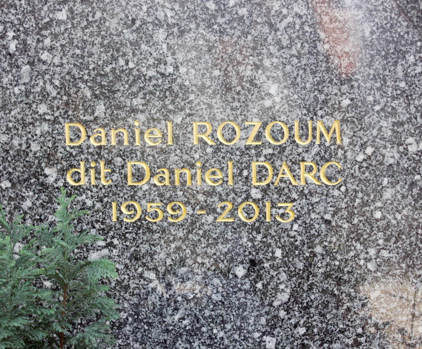 Daniel Darc. Cimetière Montmartre. 30ème division.