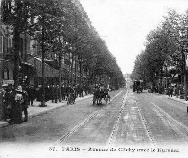 avenue de Clichy (à gauche le Kursaal)