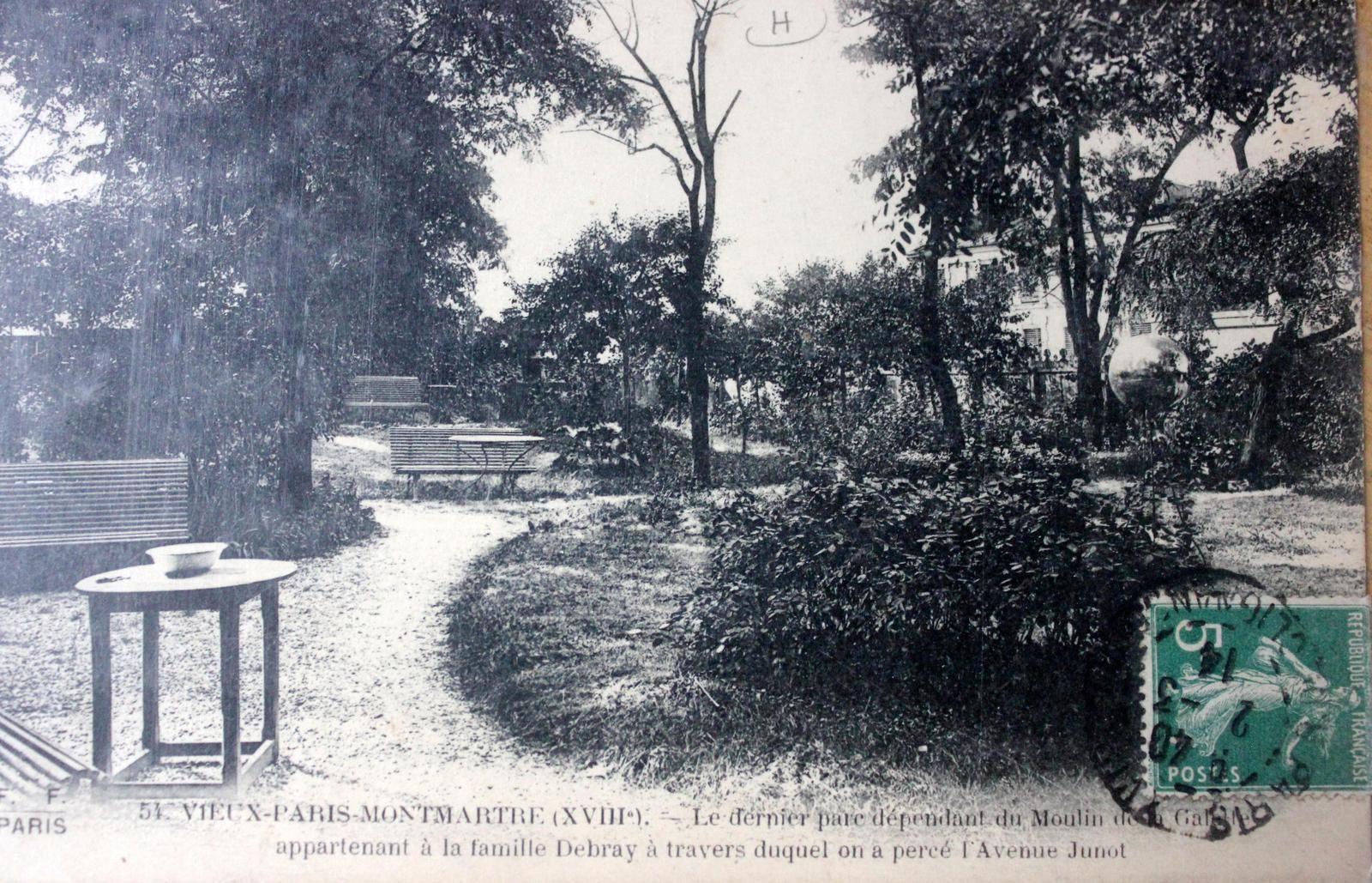 Le parc installé sur la propriété du meunier Debray peu avant sa destruction