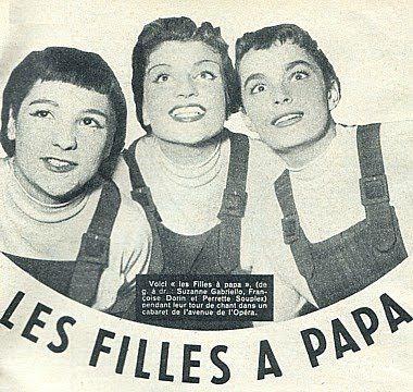 """""""Les Filles à Papa"""". De gauche à droite : Suzanne Gabriello, Françoise Dorin, Perrette Souplex)"""