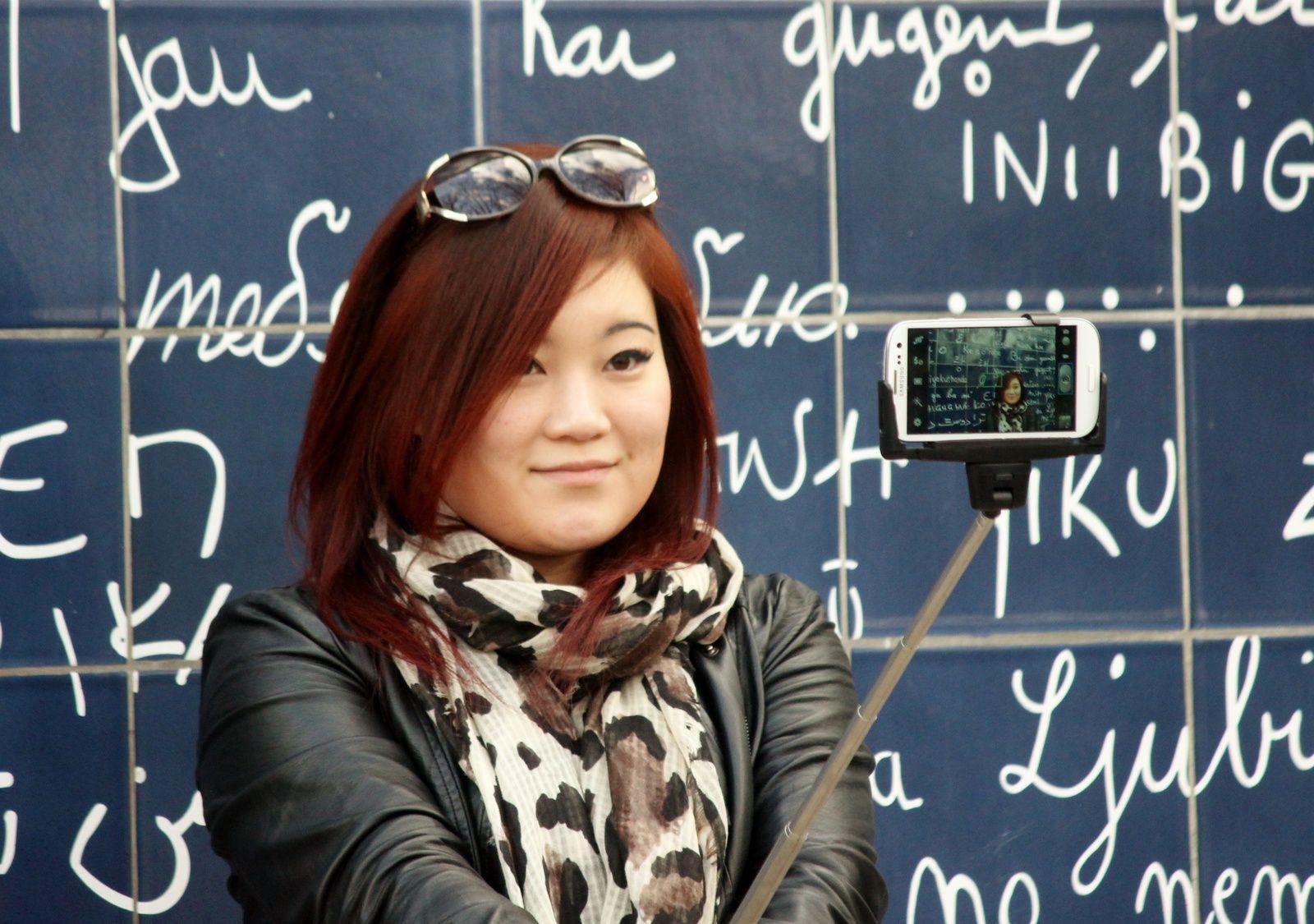 Le Mur des Je t'aime. Montmartre.