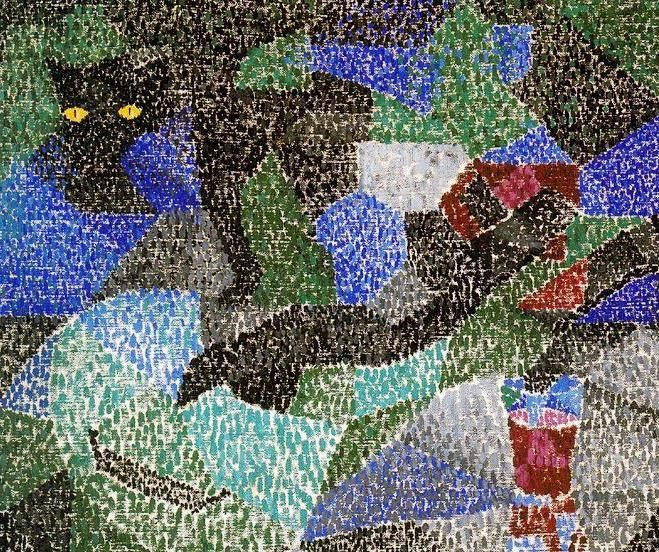 Gino severini. Le Chat Noir. (1919)