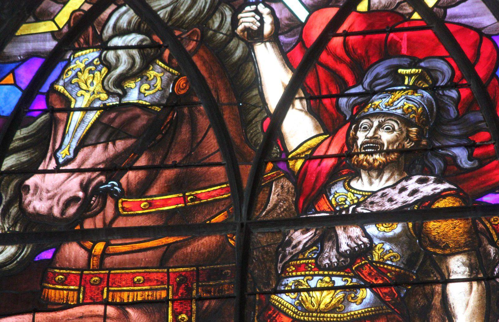 Cavaliers de l'apocalypse. Vitraux. Saint Jean de Montmartre.