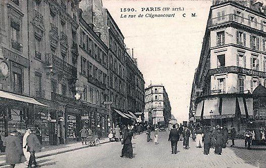 Même vue prise à hauteur de la rue André Del Sarte (on voit les colonnes Morris de l'ancienne place des hirondelles)
