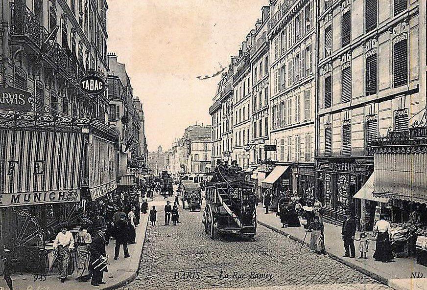 Début de la rue Ramey à partir de la rue Muller