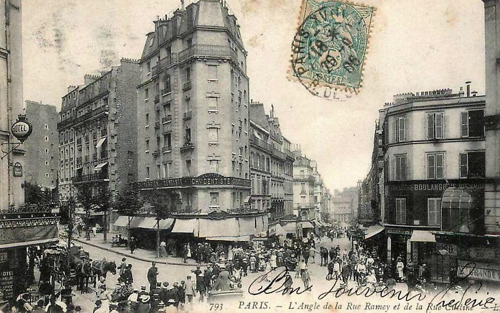 La rue Ramey (2ème partie). Montmartre.