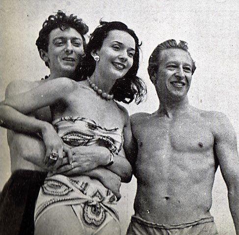 Ludmila Tchérina et Edmond Audran (à droite le danseur Kalioujny)