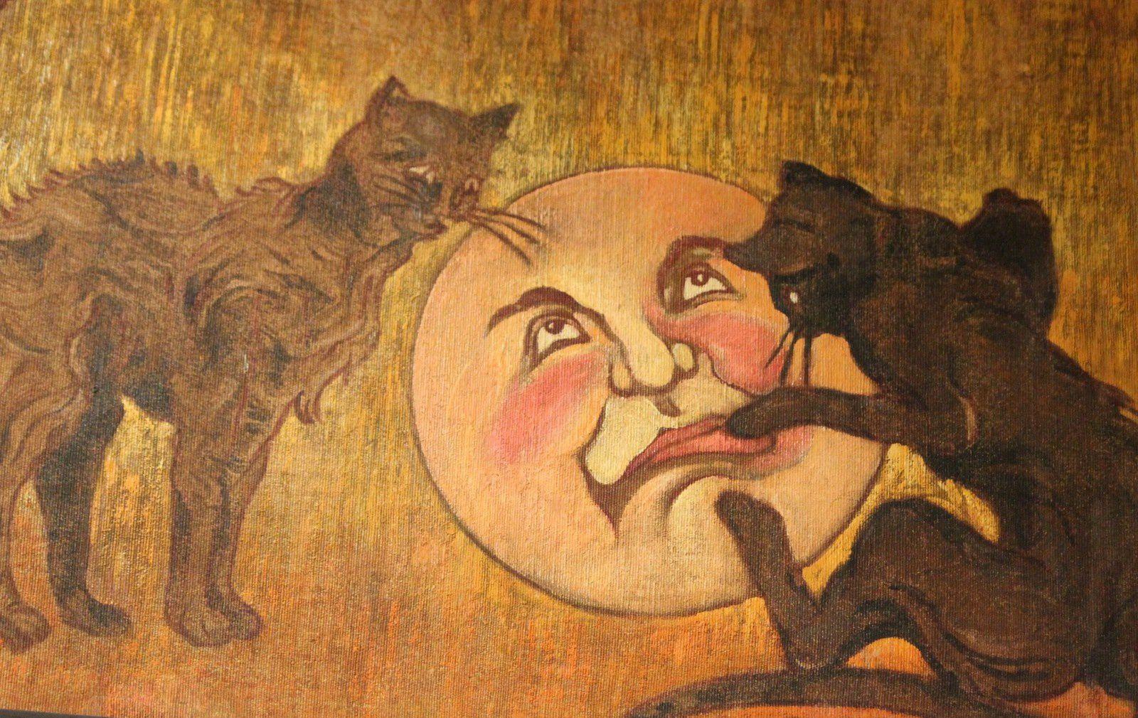 Steinlen. Musée de Montmartre. Chats et lunes.