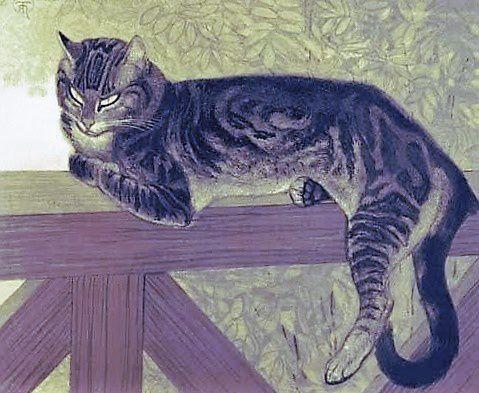Chat sur une balustrade (Steinlen)