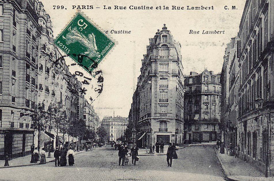 La rue avant la création de la place gabin