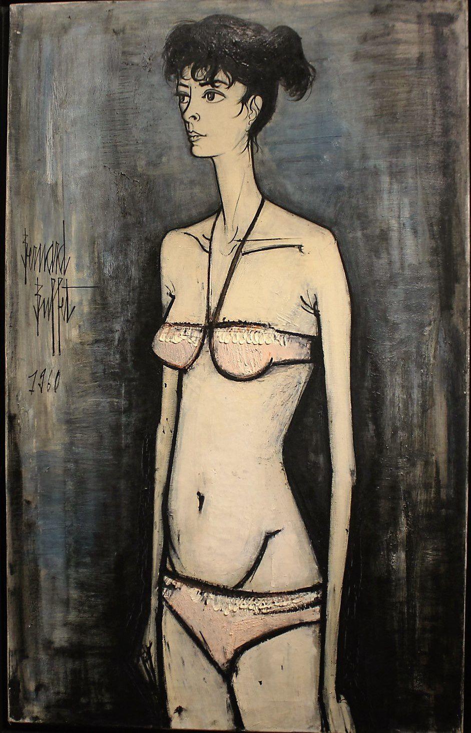 Annabel au bikini rose 1960