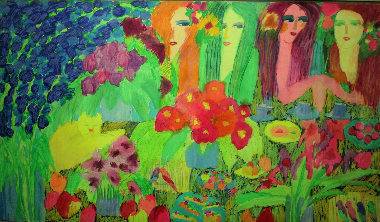 Outside snow white ( acrylique et pastel sur papier 1995)