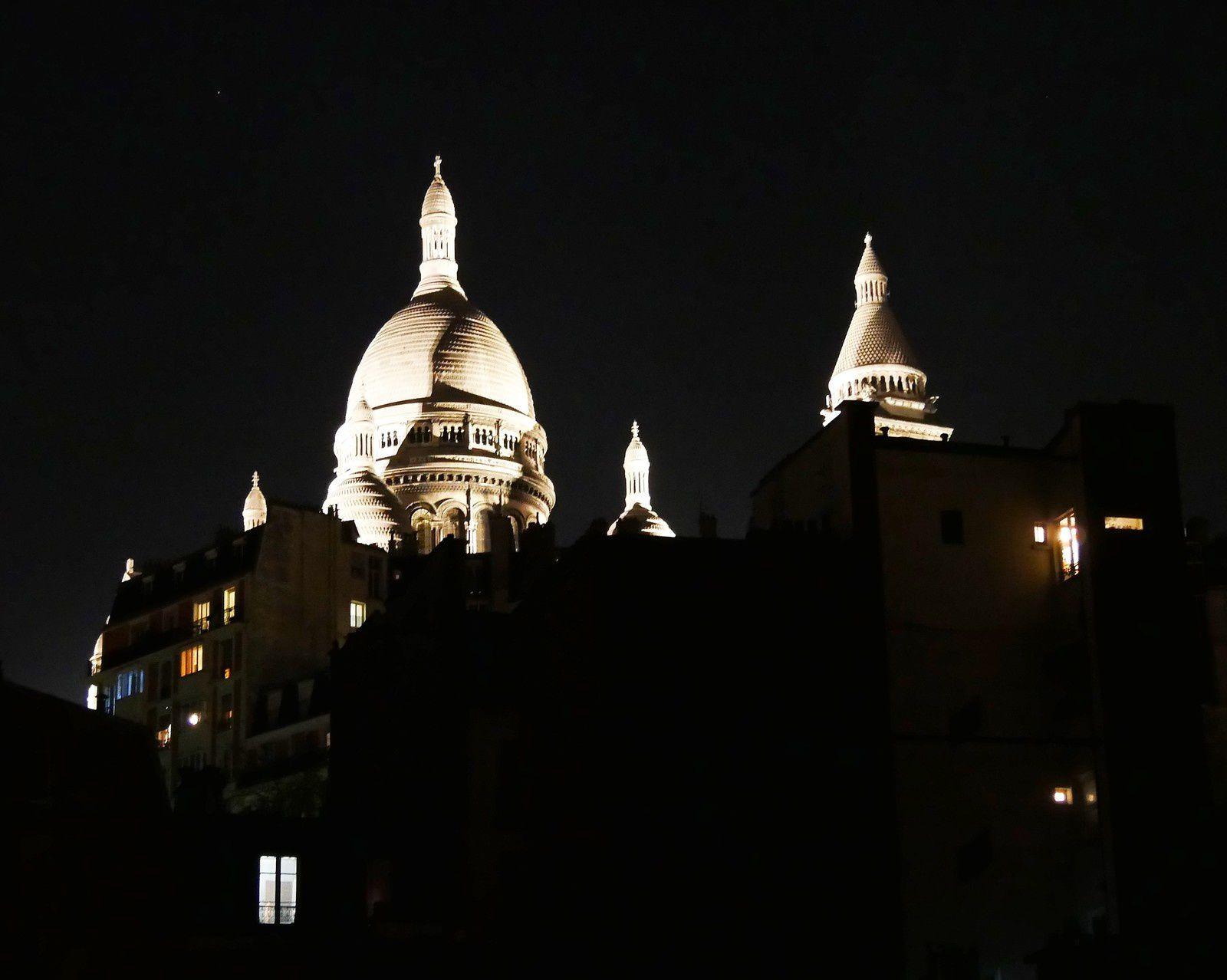 Sacré Coeur et Montmartre. Photos du matin à la nuit. Le  28 janvier.