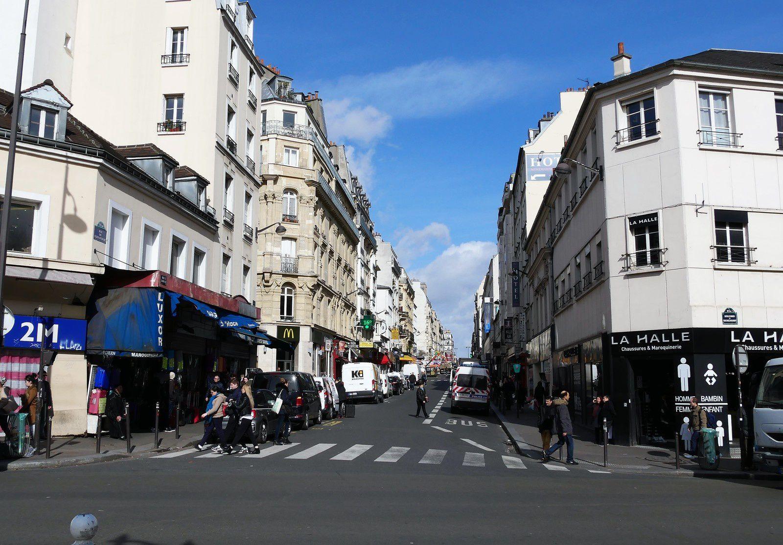 Début de la rue de Clignancourt