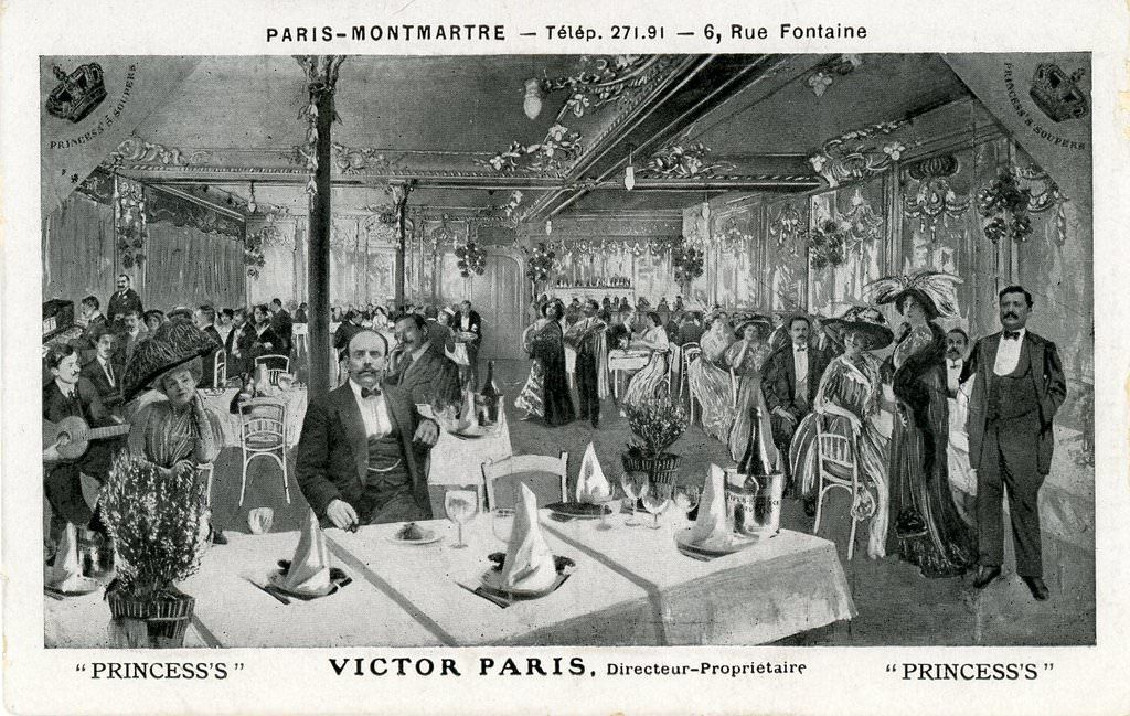 Le Princess's en 1900. 6 rue Fontaine.
