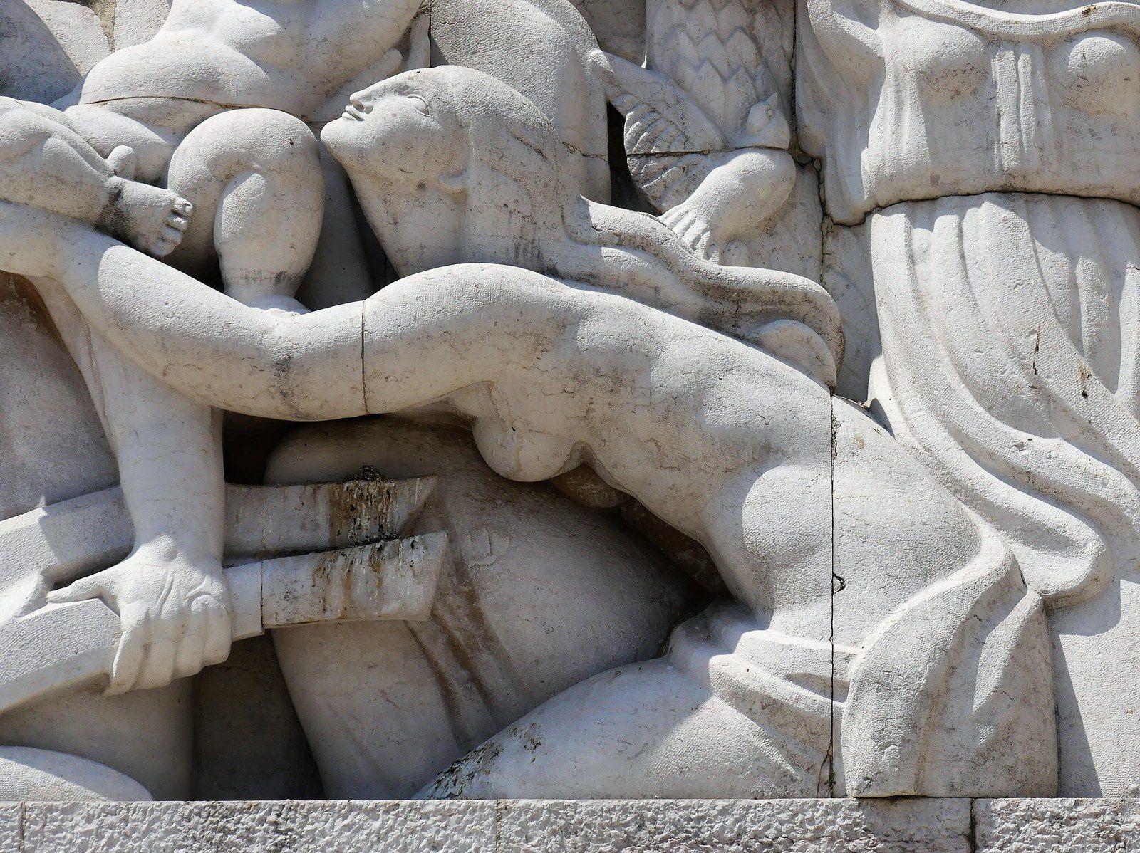 Nice. Le Monument aux Morts. Quai Rauba Capeù. Alfred Janniot.