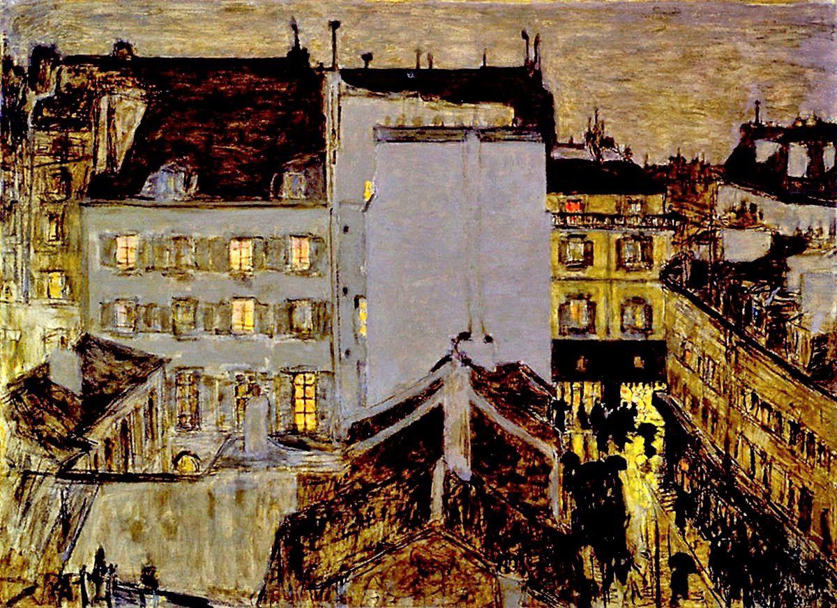 Bonnard. Montmartre sous la pluie (1897).