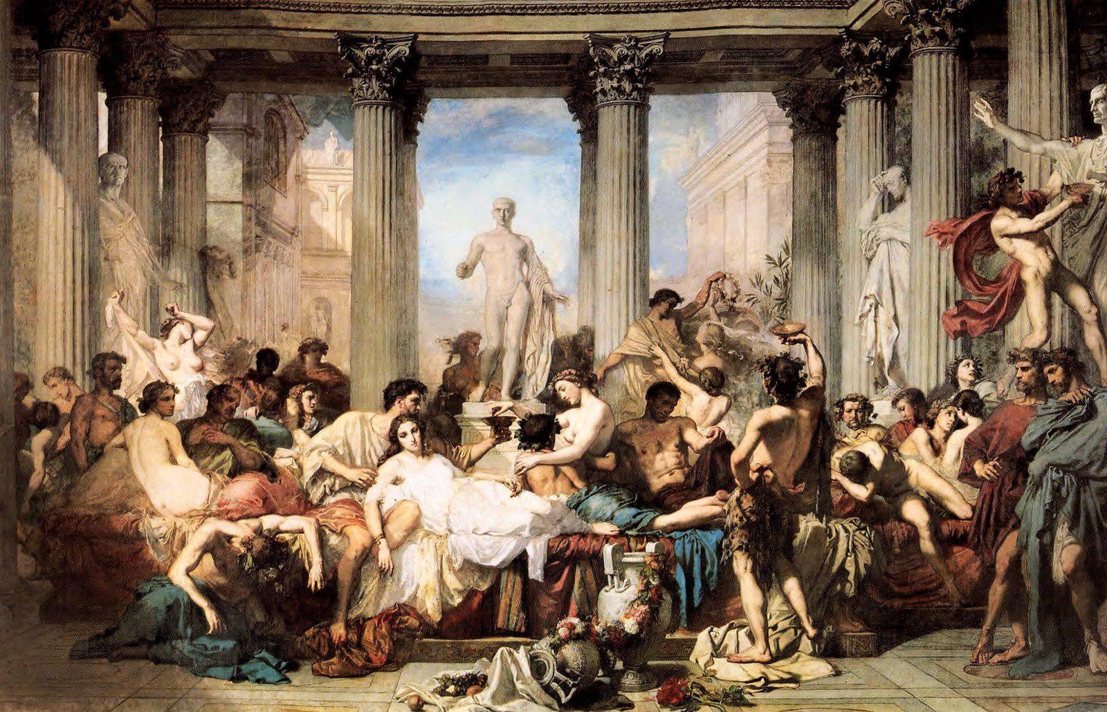 Les romains de la Décadence. thomas Couture.