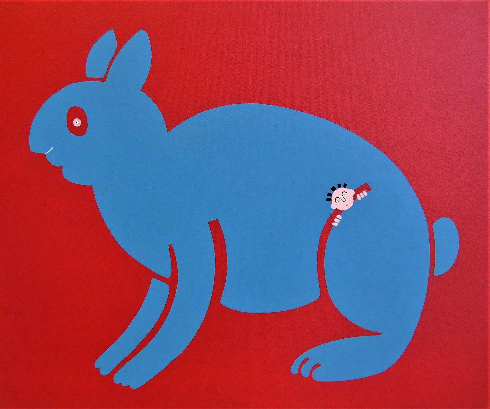 Peintures animaux et humains. Marylène Moquay. Exposition COMMUNION. Oléron. MARY.