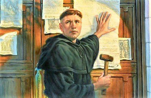 La Rochelle. Les Afficheurs de Rémi Polack. 500ème anniversaire des 95 thèses de Luther.