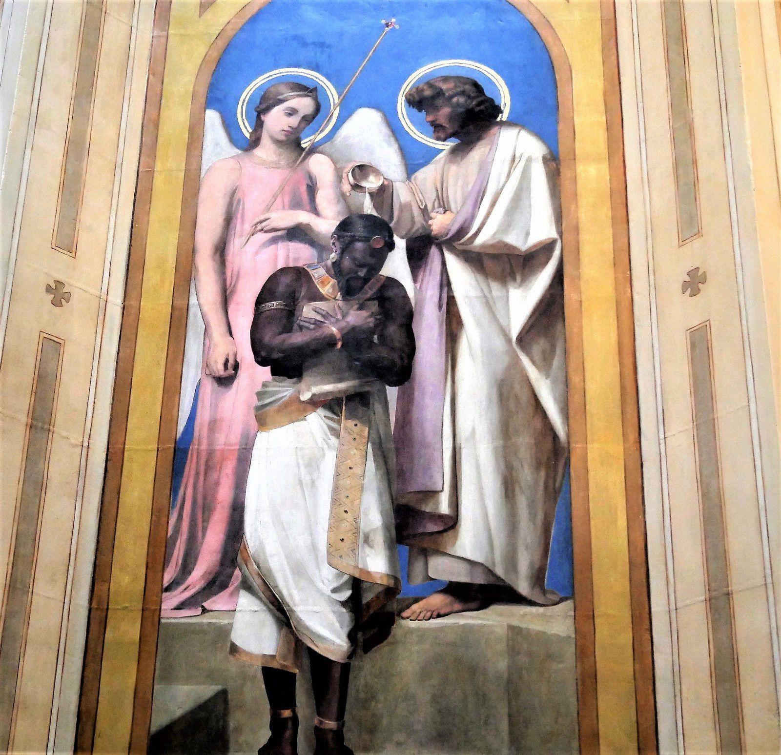 Eglise Notre-Dame de Lorette. La chapelle du baptême. Adolphe Roger.