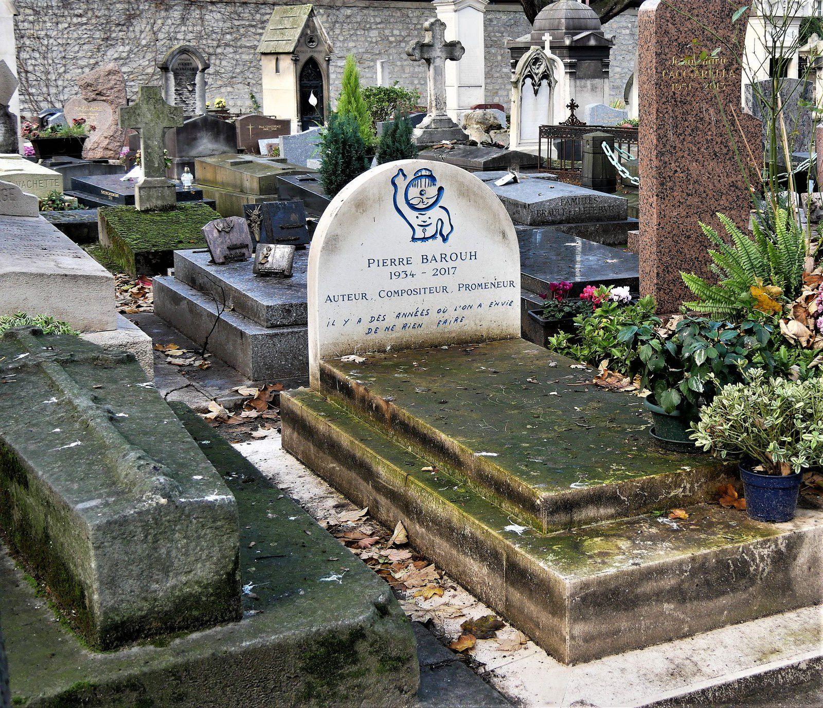 Pierre Barouh. cimetière Montmartre.