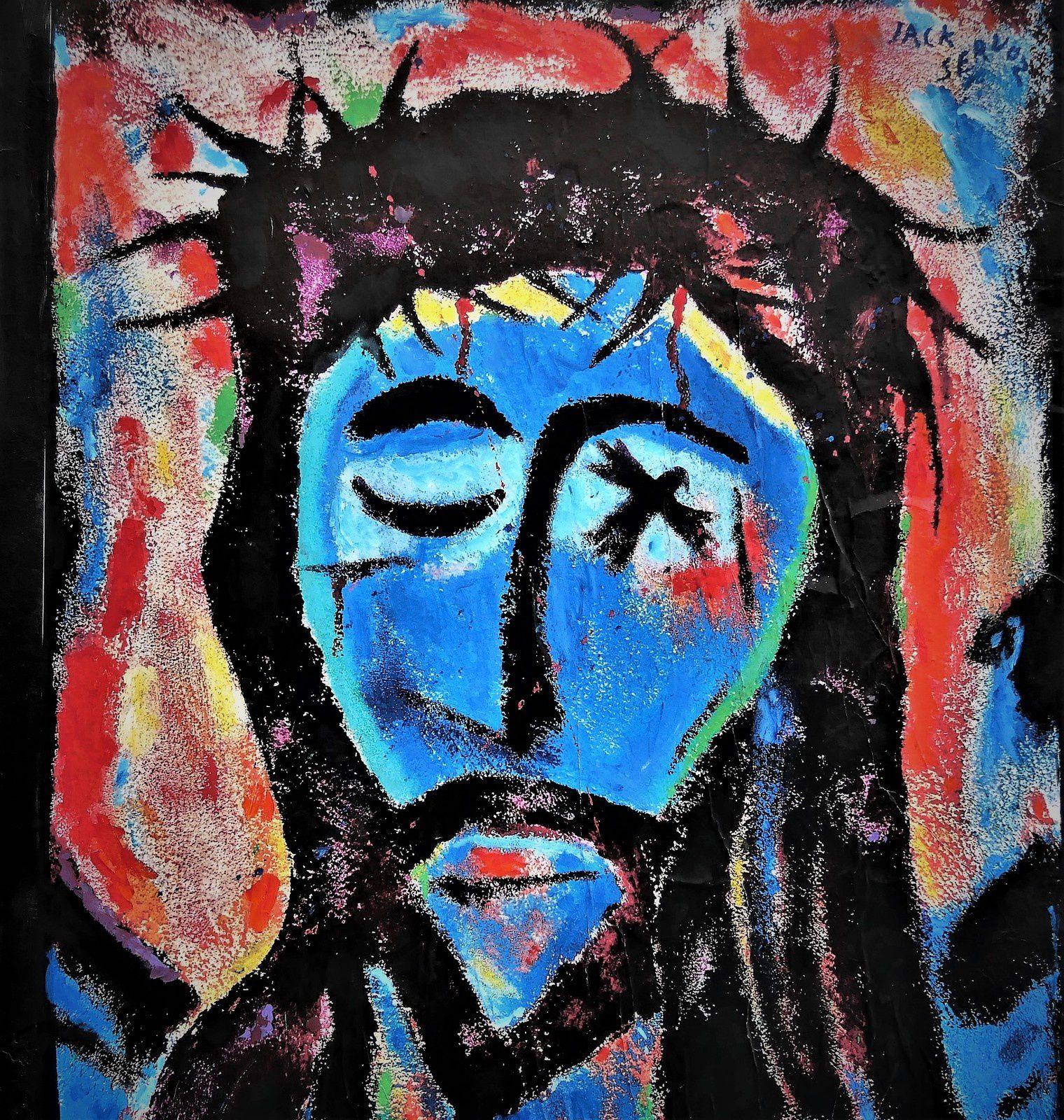 Rue Androuet. Jacques Servoz. Christ couronné d'épines.