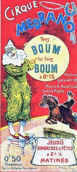 Tombe de Géronimo Médrano. Le clown Boum Boum. Cimetière Montmartre. division 2, avenue Berlioz.