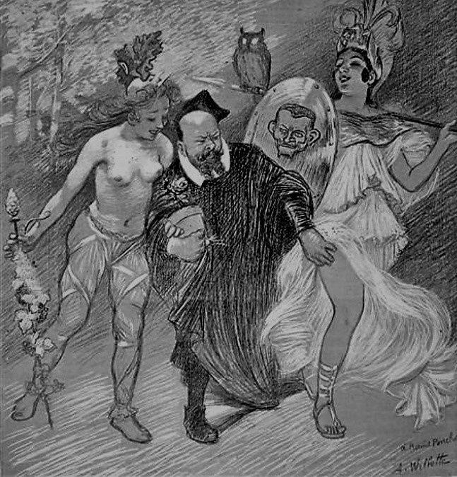 Raoul Ponchon en bonne compagnie (Willette)