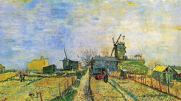 Potagers et moulins à Montmartre
