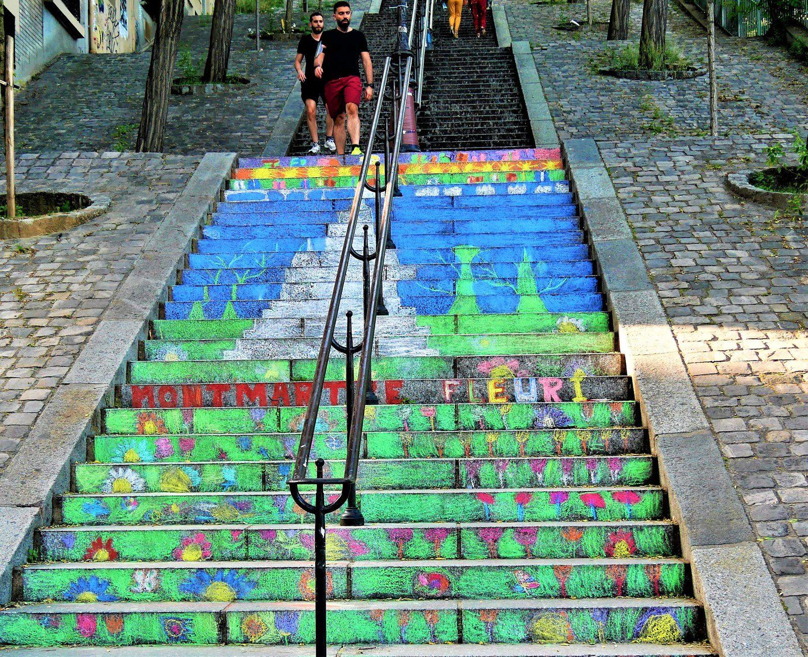 Les escaliers de Montmartre en couleurs...