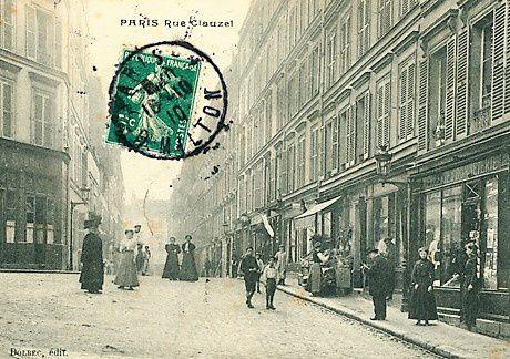 Rue Clauzel. Fin. Rue Henry Monnier et place Toudouze (à gauche)