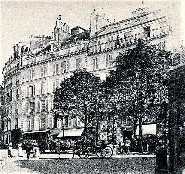Place Gustave Toudouze. Ancienne place Bréda. Montmartre.
