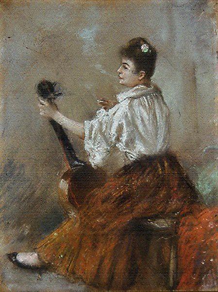 Victorine Meurent (Norbert Goeneutte) 1884.