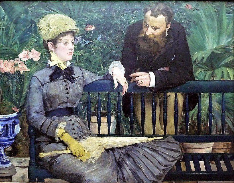 Dans la Serre. (Manet) 1879