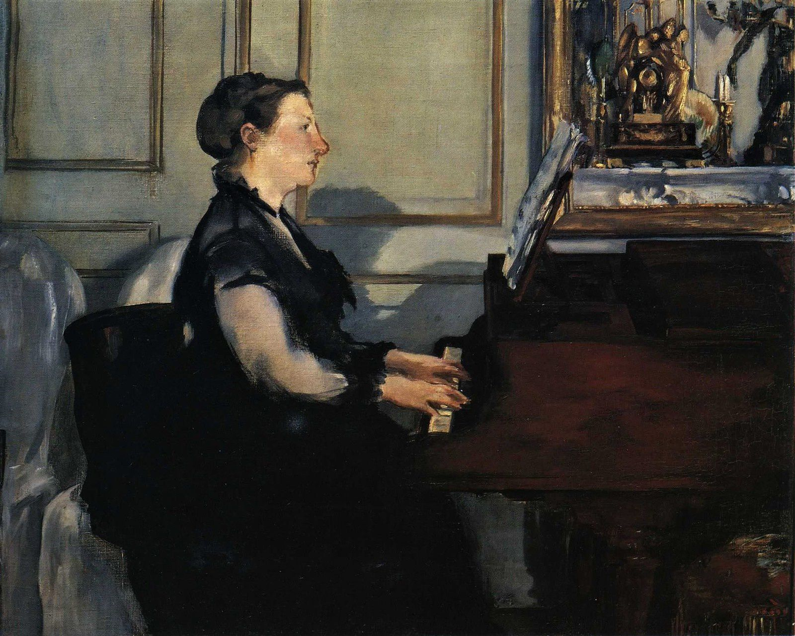 Suzanne Manet à son piano. (Manet, 1867)