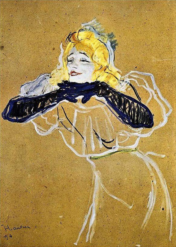 Yvette Guilbert à Montmartre