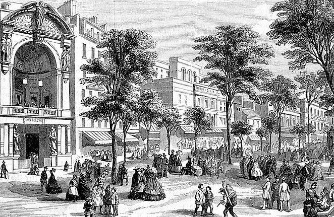Boulevard du Temple. (1845)