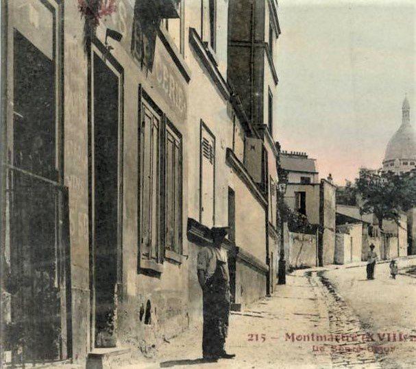 Rue de l'Abreuvoir. 14. Maison Georges. Baillot. Le comptoir de zinc.