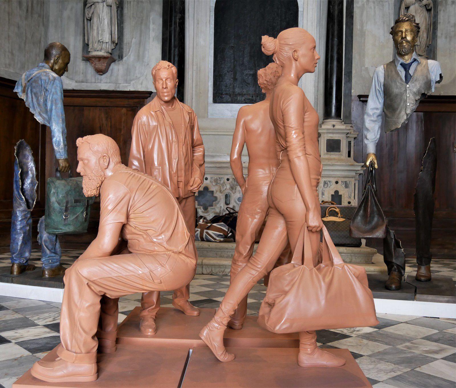 Les sculptures de Bruno Catalano à Venise. Voyageurs de bronze et de vent.