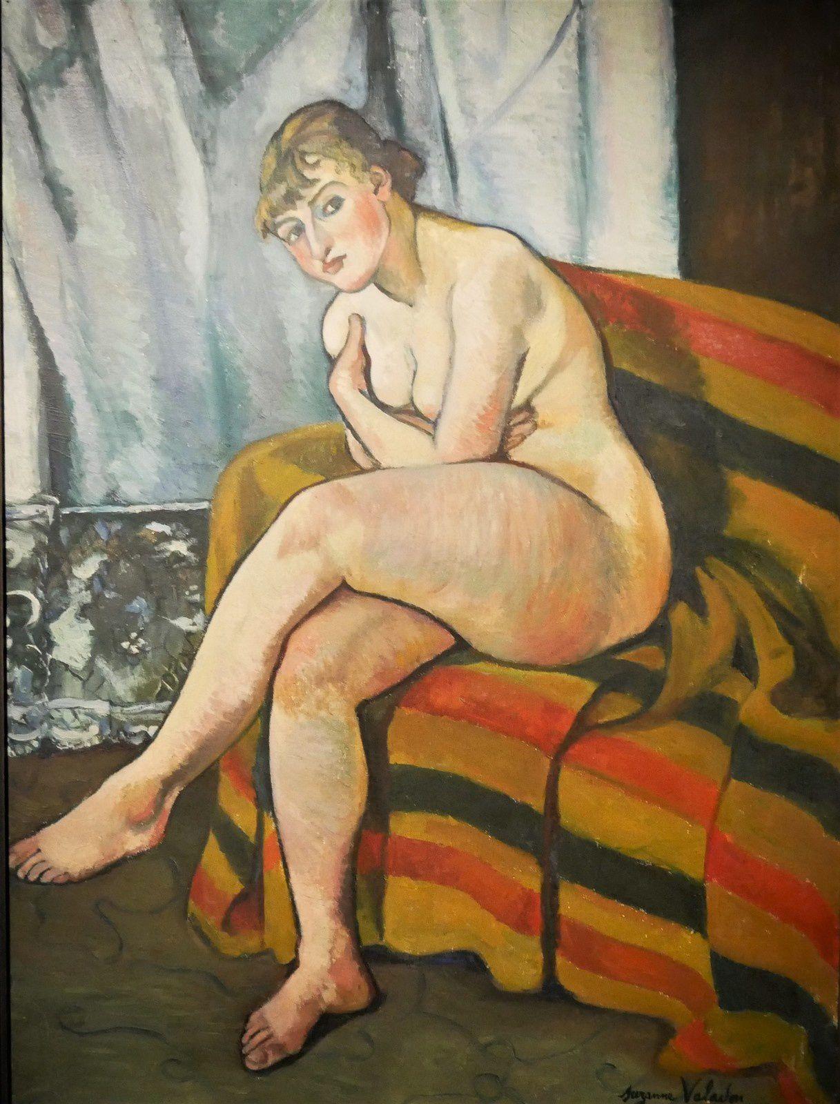 Nu assis sur un canapé (Valadon 1916)