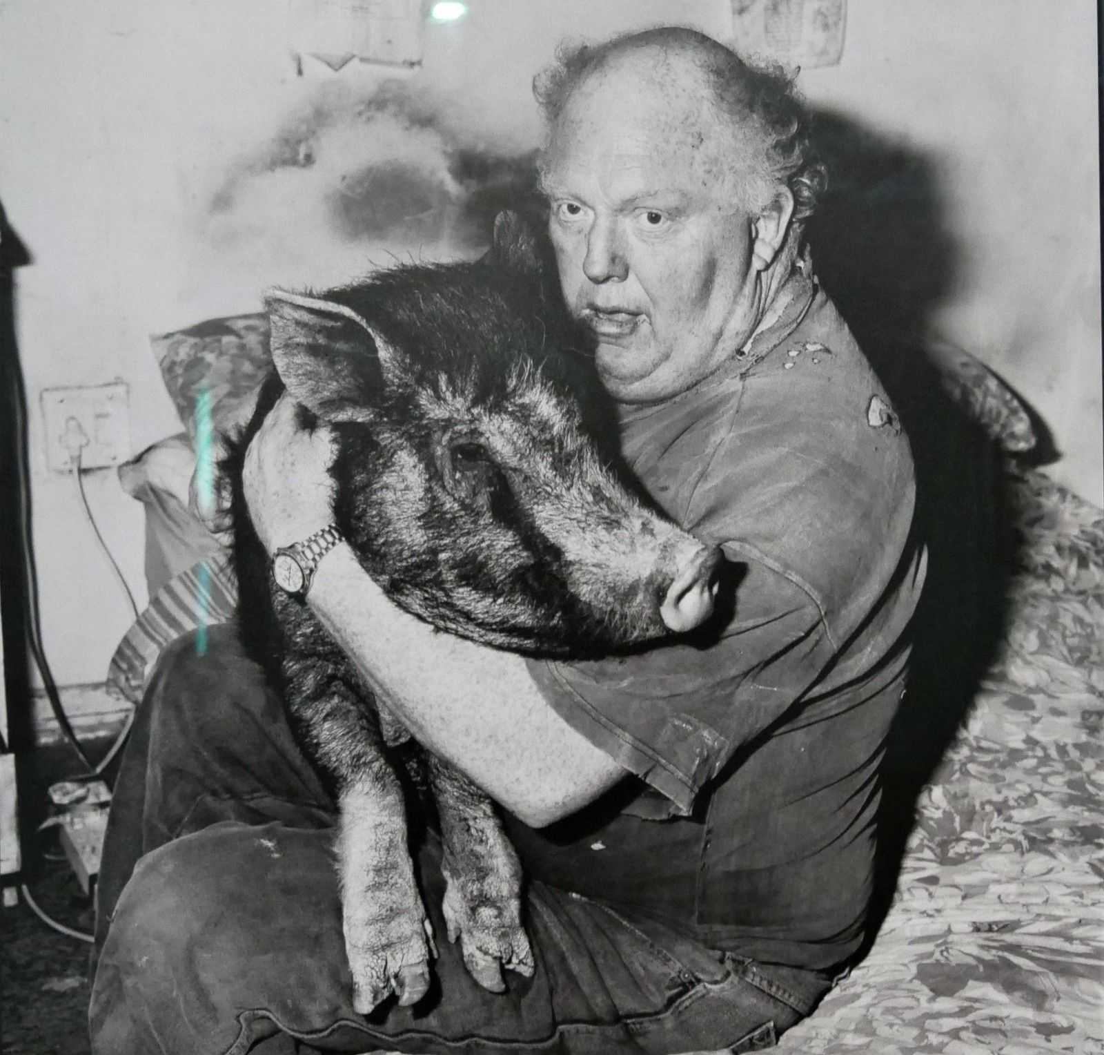 Brian with pet pig 1998